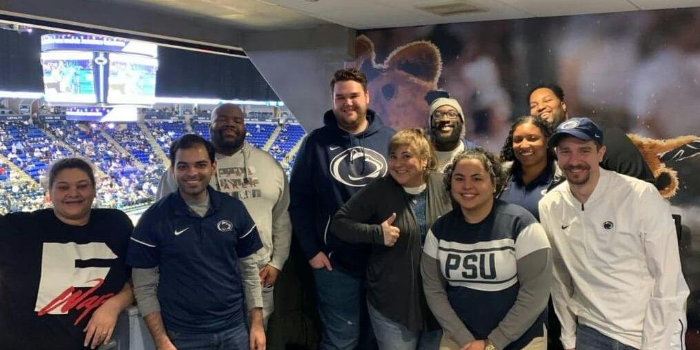 BJC Suite photo with Diversity Mentors-Mentees